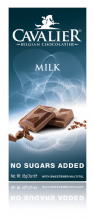 Cavalier No added Sugar Belgian Milk Chocolate Bar 85g